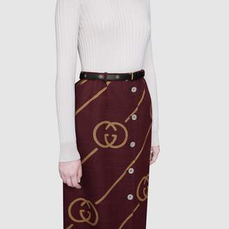 Gucci Belt with bees and stars print