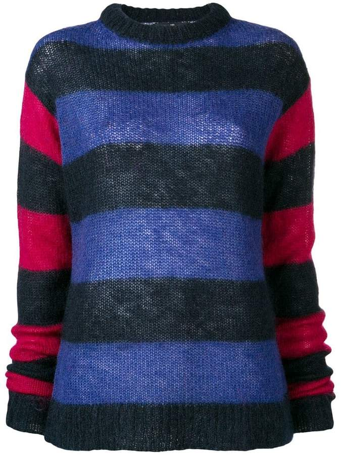 Rokh striped colour block sweater