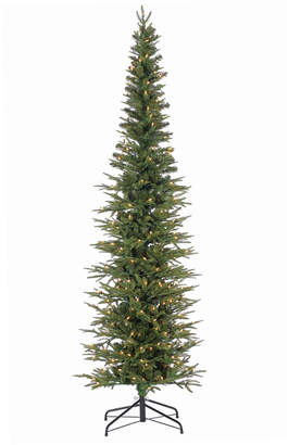 clear Sterling Tree Company 7.5Ft. Natural Cut Narrow Lincoln Pine With 300 Lights