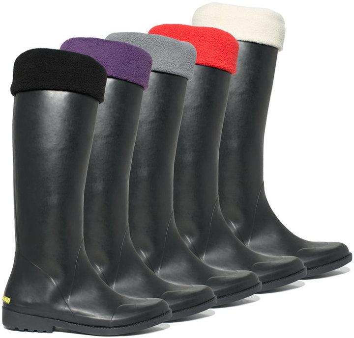 Betsey Johnson Rain Boot Liners, Fleece Socks - Calf Height