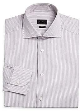 Ermenegildo Zegna Men's Thin Stripe Dress Shirt
