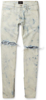 Fear Of God Holy Water Skinny-Fit Distressed Selvedge Denim Jeans