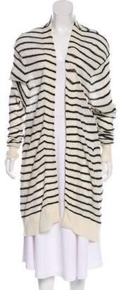 RtA Denim Cashmere Striped Cardigan