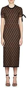 Fendi Women's Jacquard-Knit Fitted Dress-Brown