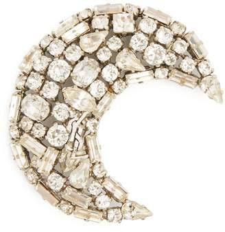 Saint Laurent Moon crystal-embellished brooch
