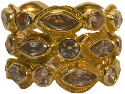Melinda Maria Gwyneth Light Brown Ring