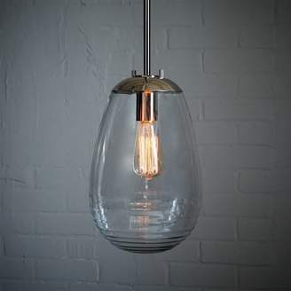 west elm Ripple Glass Pendant - Teardrop