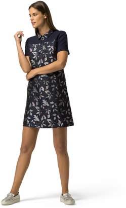 Tommy Hilfiger Short-Sleeve Floral Jacquard Dress