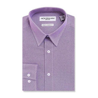 Nick Graham GRAHAM AND CO Graham And Co Everywhere Dress Shirts Long Sleeve Woven Squares Dress Shirt