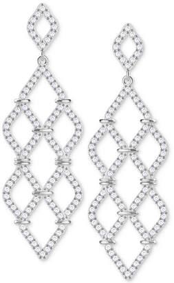 Swarovski crystal chandelier earrings shopstyle at macys swarovski silver tone crystal pave chandelier earrings aloadofball Image collections