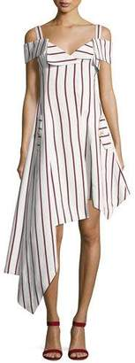 Alexis Daniele Striped Asymmetrical Dress