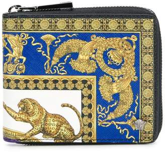 Versace baroque zipped wallet