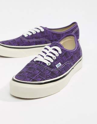 0ac7c4a17022 Vans Authentic 44 DX Anaheim Plimsolls In Purple VA38ENU6B