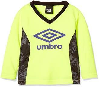Umbro (アンブロ) - [アンブロ] 長袖 シャツ 練習 吸汗 速乾 ビックロゴ UUKMJB51 キッズ Fイエロー 日本 100 (日本サイズ100 相当)