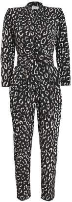 A.L.C. Kieran Leopard Silk Crepe Jumpsuit