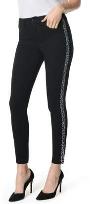 Joe's Jeans Flawless Charlie High Waist Leopard Stripe Ankle Skinny Jeans