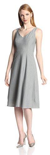 Isaac Mizrahi New York Women's Stretch V-Neck Dress