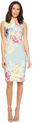 Tahari ASL Scuba Crepe Floral Sheath Dress Women's Dress