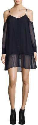 Each X Other Women's Silk Mousseline Cold-Shoulder Dress