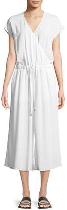 Eileen Fisher Crepe Cropped Jumpsuit, Petite