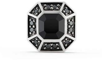 David Yurman Pave Stud Earring with Black Diamonds