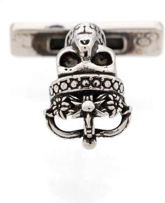 Alexander McQueen Queen and King skull cufflinks
