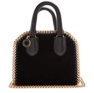 Stella McCartney Falabella Box velvet cross-body bag