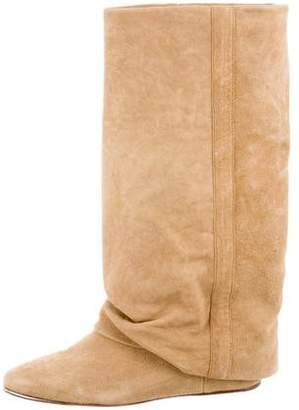 See by Chloe Suede Fold-Over Boots