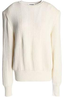 Jil Sander Ribbed Cotton Cashmere And Silk-Blend Sweater