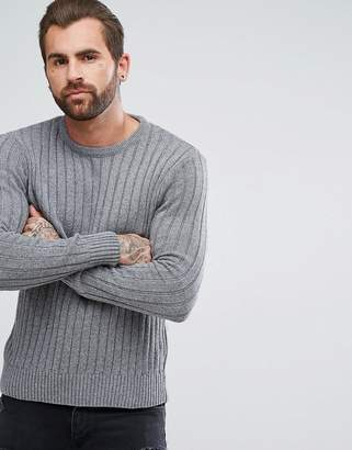 Ringspun Cable Block Knitted Sweater