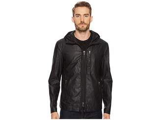 John Varvatos Short Parka with Exposed Zippers Men's Clothing