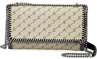 Stella McCartney Falabella Logo-Print Canvas Flap Shoulder Bag