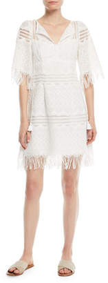 Nanette Lepore Sunset Sky Mini Dress w/ Fringe