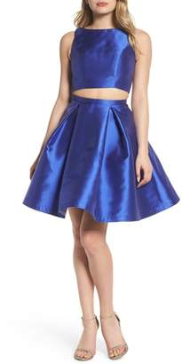 Mac Duggal Skater Skirt Two-Piece Dress