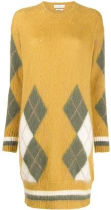 Ballantyne argyle knit dress