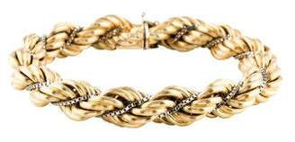 14K Large Rope Chain Bracelet