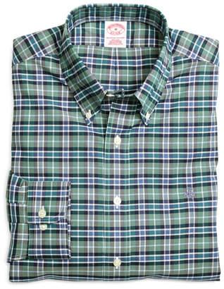 Brooks Brothers Non-Iron Regular Fit Green Sport Shirt