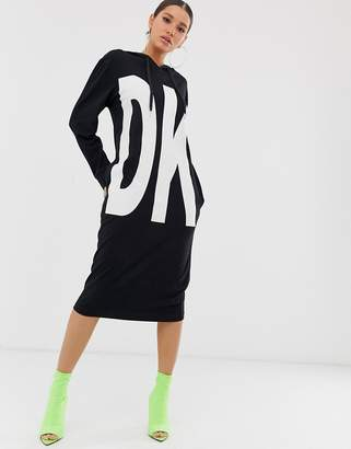 DKNY long sleeve hoodie dress