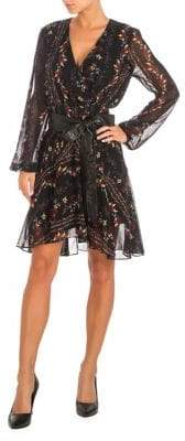 GUESS Jewel Printed Belted Dress