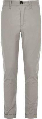 River Island Boys grey Sid skinny fit chino pants