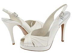 Stuart Weitzman & Evening Collection - Glowicky (Ivory Satin) - Footwear