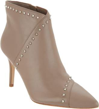 Marc Fisher Leather Studded Pointy Toe Booties - Riva