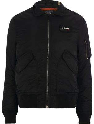 Schott black quilted jacket