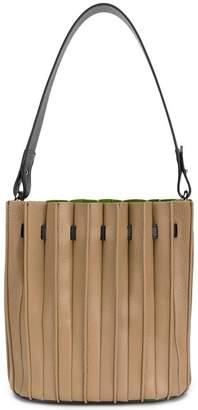 Sara Battaglia plissè bucket bag