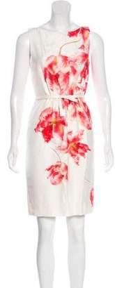 Giambattista Valli Silk Floral Print Dress