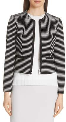 BOSS Kubina Stripe Knit Jacket