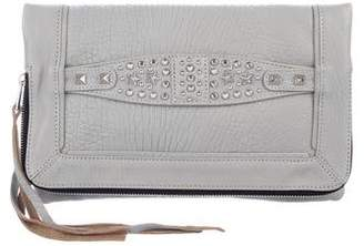 Ash Leather Studded Clutch w/ Tags