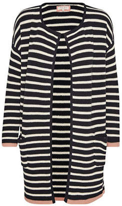 PART TWO Kristy Striped Cotton Long Cardigan