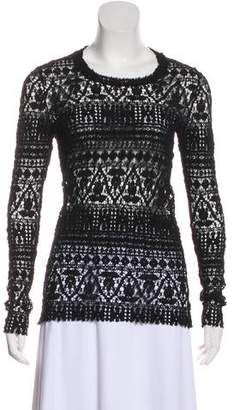 Isabel Marant Long Sleeve Lace Top
