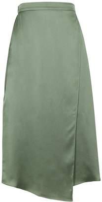 Vince Sage Wrap-effect Silk Midi Skirt
